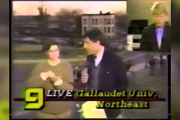 1988 Deaf President Now Protest: A News Footage Perspective
